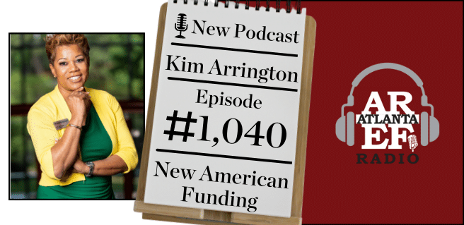 Graphic depicting Kim Arrington of New American Funding on Radio to discuss educating homebuyers to be mortgage ready.