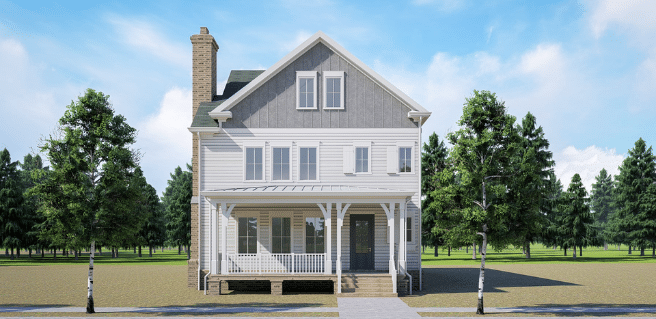 Digital home rendering to depict collaboration between southwyck homes and stevie collective