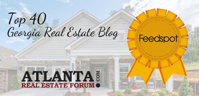 Atlanta Real Estate Forum is named a Top 40 Georgia Real Estate Blog by Feedspot
