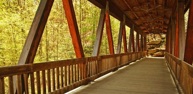 covered bridge in roswell, georgia