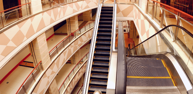 photo of an abandoned mall to describe the fate of american malls
