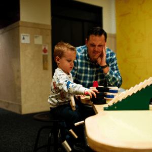 photo of a parent and child playing together at the children's museum of atlanta