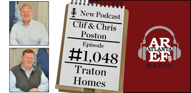 graphic advertising traton homes on the atlanta real estate forum podcast