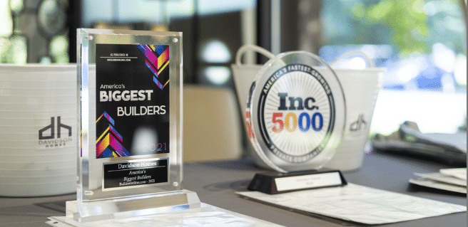 photo of davidson homes recent accolades including a top ranking in the inc. 5000