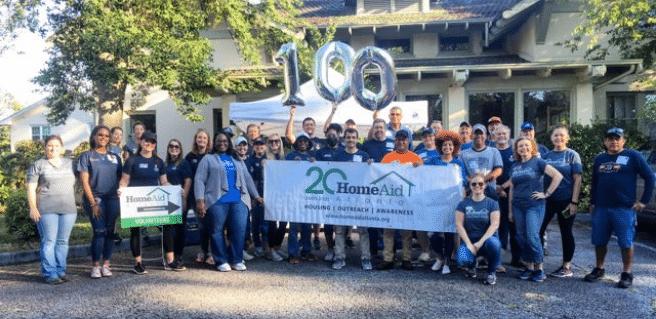 photo of volunteers at homeaid atlanta's 100th care day at jerusalem house