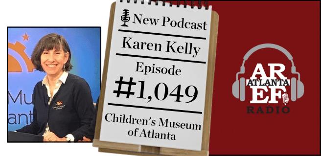 graphic advertising karen kelly with the children's museum of atlanta on radio