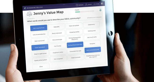 Reimagine Selling Value Map App demonstration