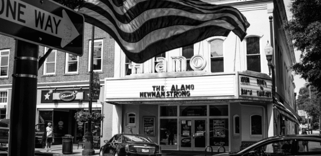 old theater in downtown newnan