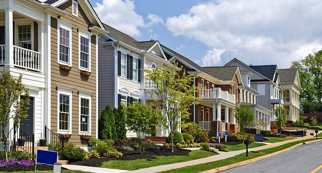 homes in a community managed by an HOA