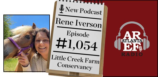 radio graphic advertising rene iverson, president of little creek farm conservancy, on radio