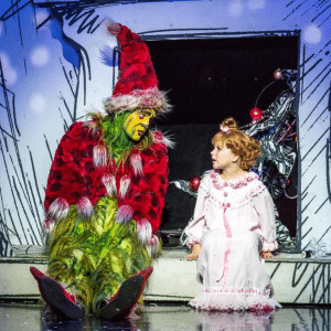 the grinch and sally in dr seuss' how the grinch stole christmas