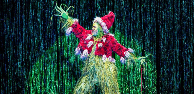 the main lead in the grinch costume in dr. seuss' how the grinch stole christmas